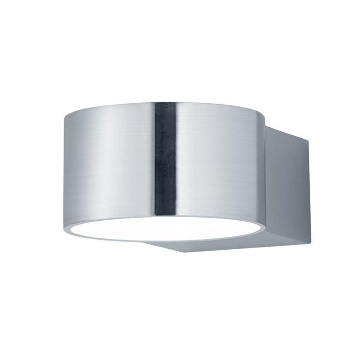 Moderne-runde-Wandleuchte-Nickel-matt-inkl.-LED---Lacapo