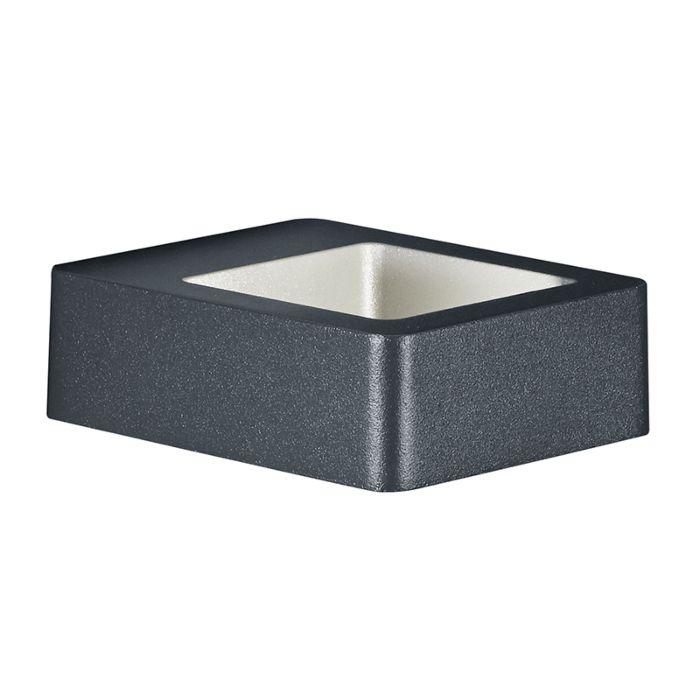 Moderne-quadratische-Wandleuchte-anthrazit-IP54-inkl.-LED---Reno