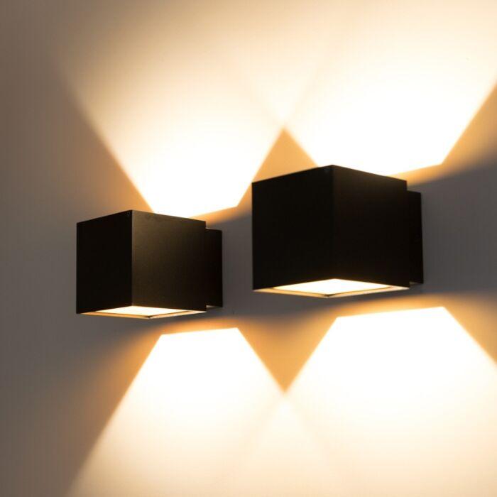 2er-Set-Design-Wandleuchten-schwarz-/-gold-inkl.-LED---Caja
