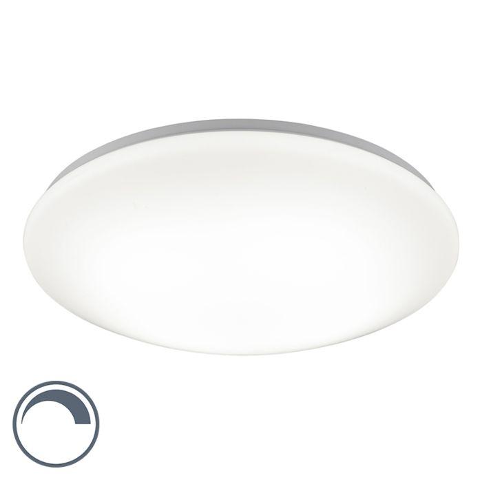Moderne-runde-Deckenleuchte-weiß-45-cm-inkl.-LED-mit-Dimmfunktion---Konverter
