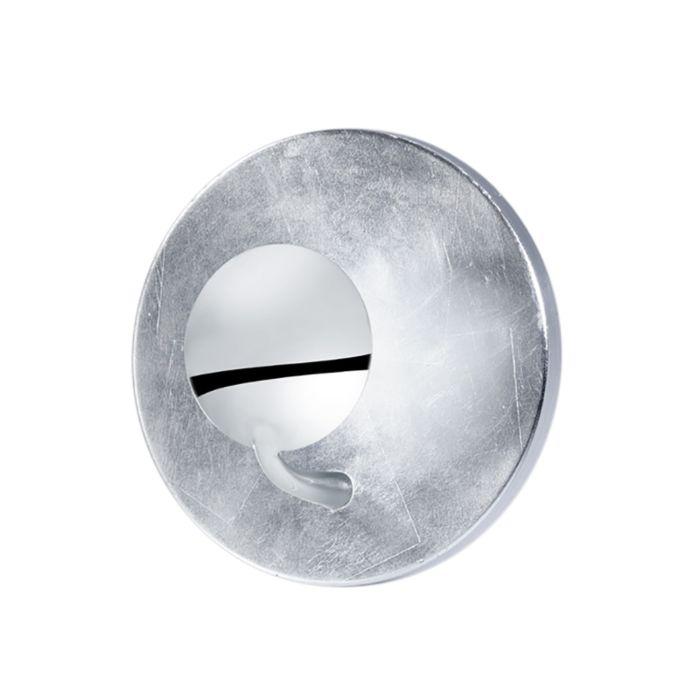 Moderne-runde-Wandleuchte-silber-inkl.-LED---Aurora