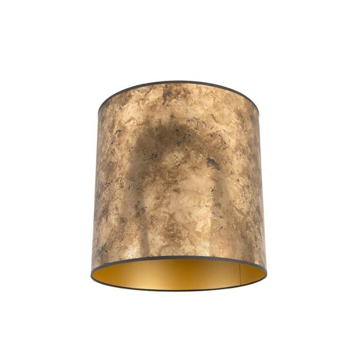 Lampenschirm-Bronze-40/40/40-mit-goldenem-Interieur