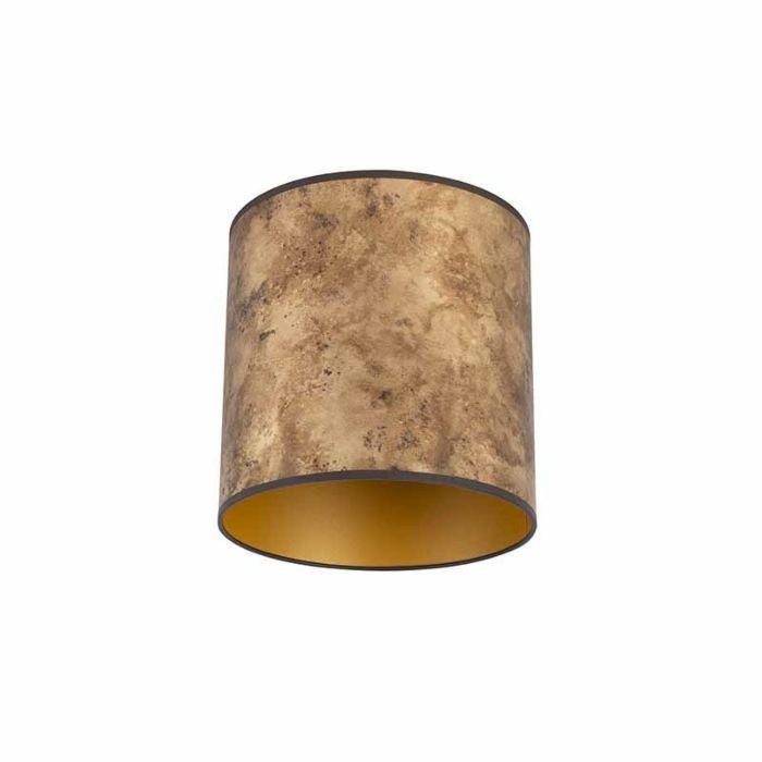 Lampenschirm-Bronze-25/25/25-mit-goldenem-Interieur