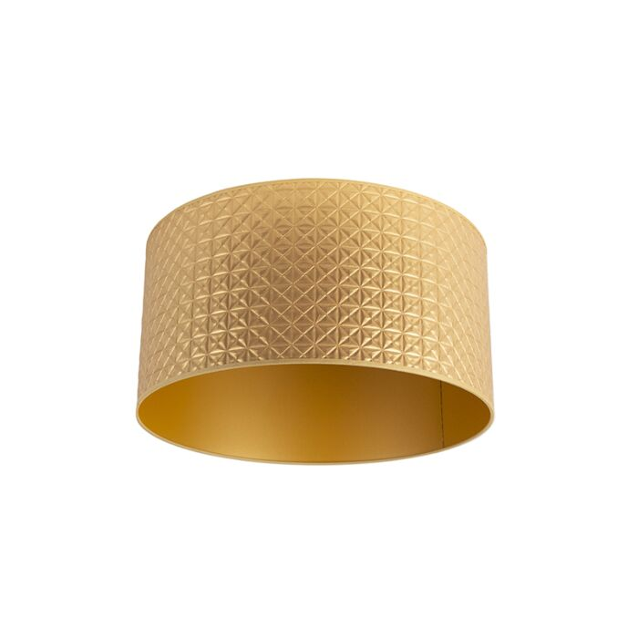 Lampenschirm-Gold-50/50/25-Dreiecksmuster