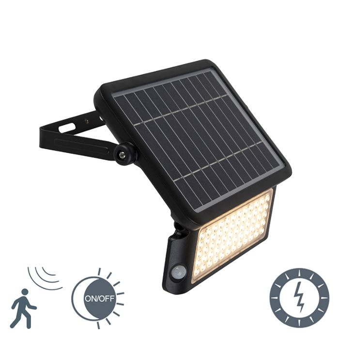 Scheinwerfer-schwarz-IP65-inkl.-LED-mit-Bewegungssensor-10W---Teho