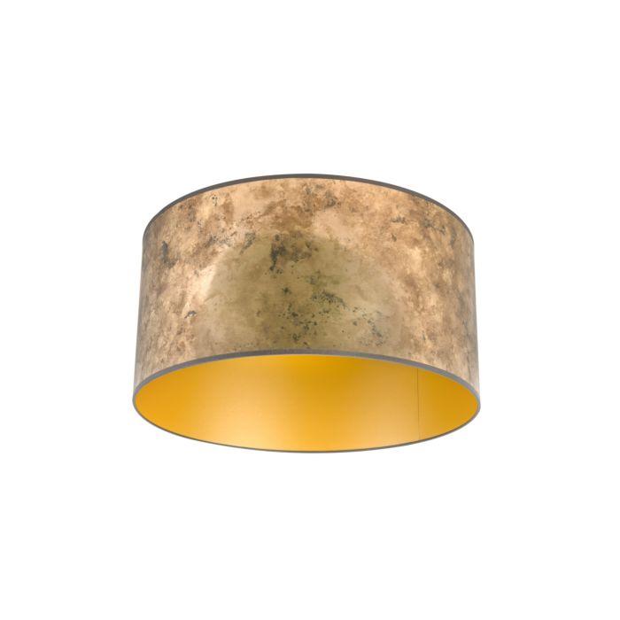 Lampenschirm-Bronze-50/50/25-mit-goldenem-Interieur