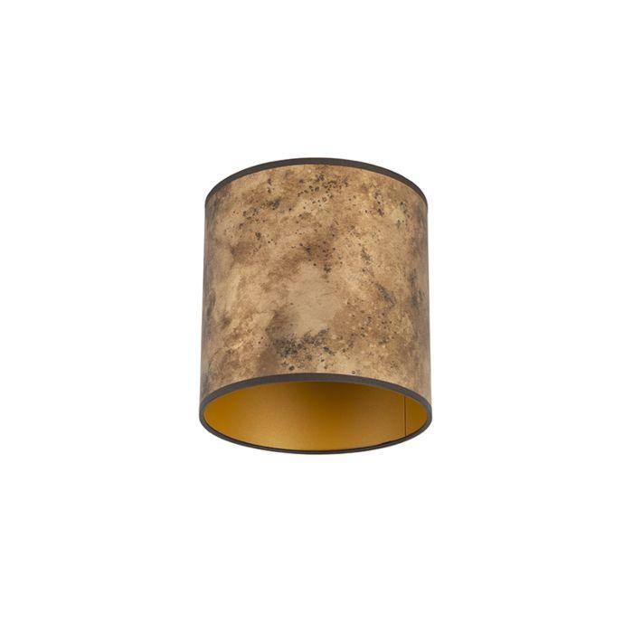 Lampenschirm-Bronze-20/20/20-mit-goldenem-Interieur