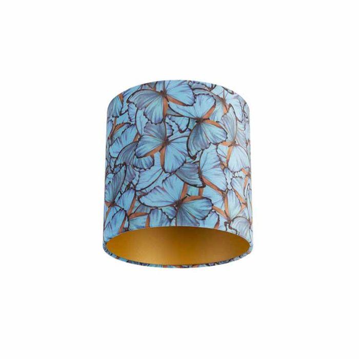 Velour-Lampenschirm-Schmetterling-Design-25/25/25-goldene-Innenausstattung