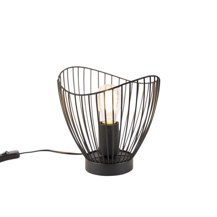 Design-Tischlampe-schwarz-20-cm---Pua