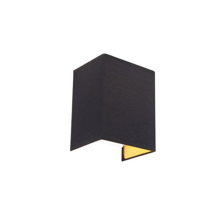 Moderne-Wandleuchte-schwarz-und-gold---Vete