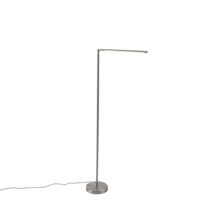Moderne-Stehleuchte-aus-Stahl-mit-Touchdimmer-inkl.-LED---Douwe