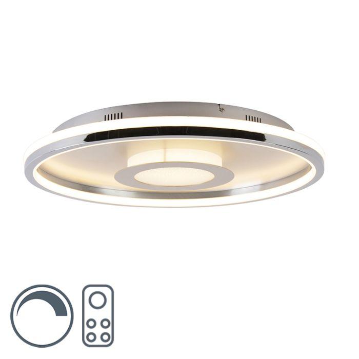 Deckenleuchte-Aluminium-59-cm-inkl.-LED-mit-Fernbedienung---Oculus