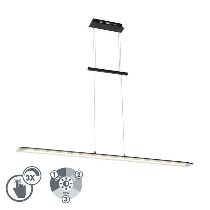 Design-Hängelampe-schwarz-135-cm-inkl.-LED-3-stufig-dimmbar---Cavolo