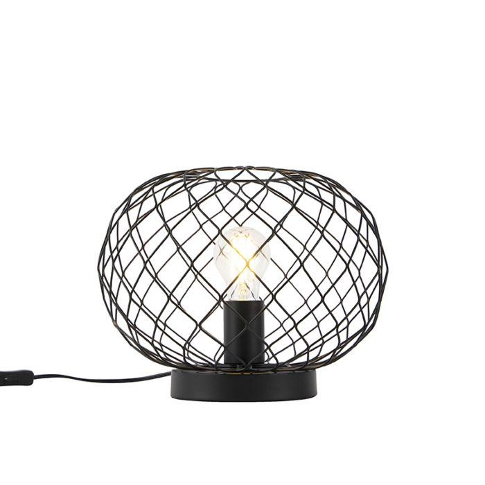Art-Deco-Tischlampe-schwarz---Helian