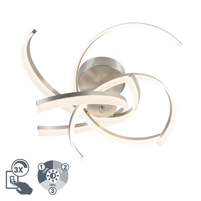 Design-Deckenleuchte-Stahl-inkl.-LED-3-stufig-dimmbar---Friz