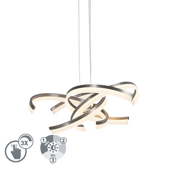 Design-Hängelampe-Stahl-inkl.-LED-3-Stufen-dimmbar---Friz