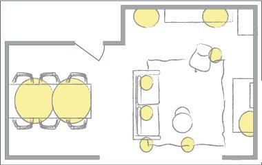 funkionalen Beleuchtungsplan