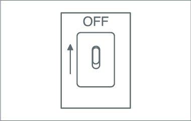 Stelle den Strom aus