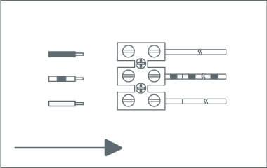 3. Schritt: Verbinde die Anschlusskabel mit der Lüsterklemme
